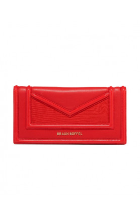 RED CATE 2-FOLD LONG WALLET