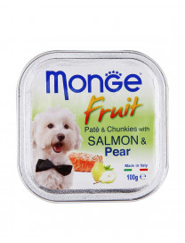 MONGE FRUITS SALMON & PEAR 100G