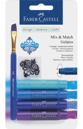 GELATOS CRAYONS 4PCS BLUE