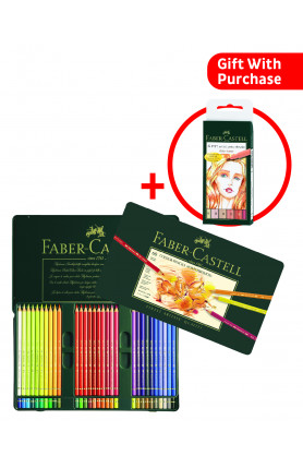 Polychromos Artists Colour Pencils Tin of 60 with brush (free a set of PITT Artist Pens worth RM66)