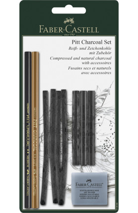PITT PRESSED CHARCOAL SET IN TIN OR ADDITIONAL ITEM