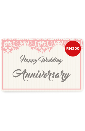 Happy Wedding Anniversary e-Gift Card (RM200)