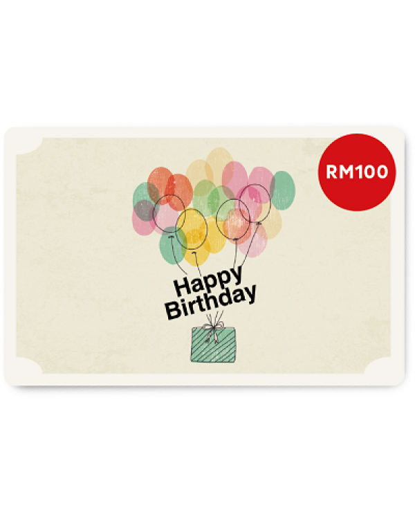 Happy Birthday 2 E Gift Card RM100