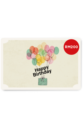 Happy Birthday 2 e-Gift Card (RM200)