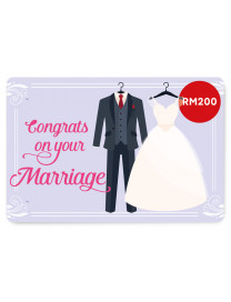 WEDDING E-GIFT CARD 4 (RM200)