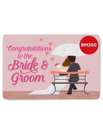 WEDDING E-GIFT CARD 3 (RM200)