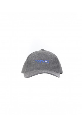 GREY WOOL TOPMOD CAP