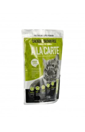 ALA CARTE CHICKEN AND BROWN RICE CAT DRY FOOD 1.5KG