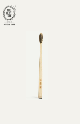 TOOTHBRUSH  WITH BIODEGRADABLE BAMBOO HANDLE