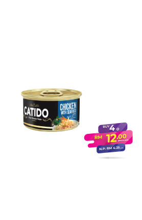 CATIDO CHICKEN WITH SEAFOOD IN GRAVY 80G