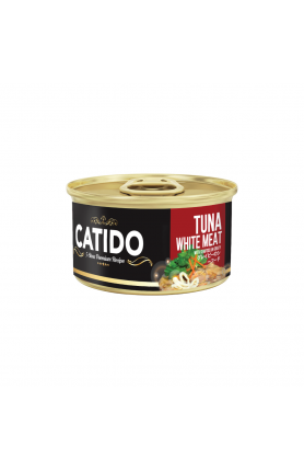 CATIDO TUNA WHITE MEAT WITH SEAFOOD IN GRAVY 80G