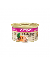 CATIDO SIGNATURE TUNA IN GRAVY TOPPING SALMON 80G