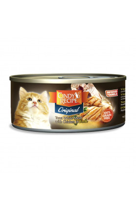 CINDY ORIGINAL TUNA WITH CHICKEN (BROTH) 80G