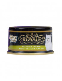 FANCY FEAST ROYALE SEAFOOD,CHICKEN IN TUNA JUS 85G