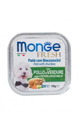MONGE FRESH CHICKEN WITH VEGE 100G