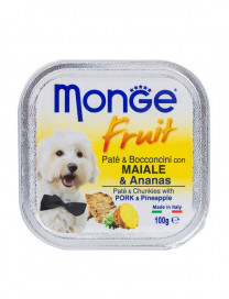 MONGE FRUITS PORK & PINEAPPLE 100G