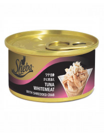 SHEBA TUNA WHITEMEAT WITH SHREDDED CRAB