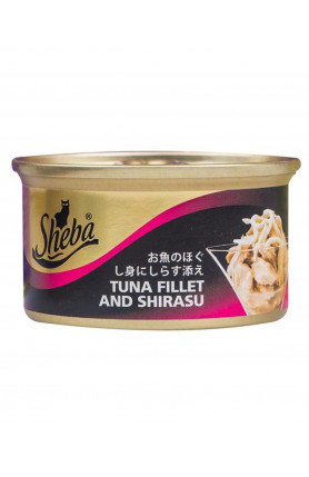 SHEBA TUNA FILLETS AND SHIRASU 85G