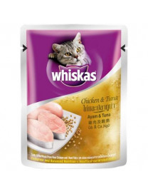 WHISKAS POUCH CHICKEN & TUNA 85G