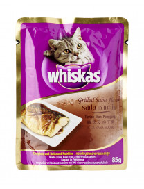 WHISKAS POUCH GRILLED SABA 85G
