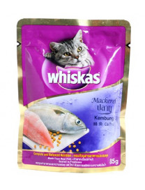 WHISKAS POUCH MACKEREL 85G