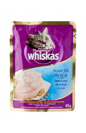 WHISKAS POUCH OCEAN FISH 85G