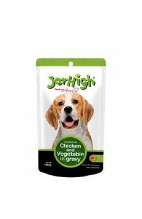 JERHIGH POUCH-CHICKEN & VEGETABLE IN GRAVY 120G