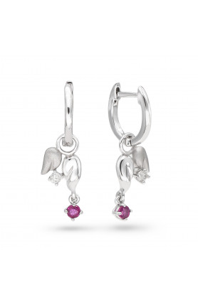 RUBY ANGEL EARRINGS