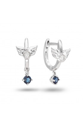 SAPPHIRE ANGEL EARRINGS