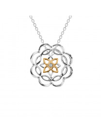 KALEIDO LOTUS DIAMOND PENDANT