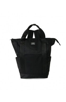 SHIFT 2 WAY TOTE BACKPACK - BLACK