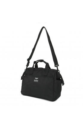 TRACK 2WAY 10 POCKET MINI BOSTON BAG - BLACK