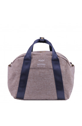 CASUAL STYLE 2WAY SHOULDER/ HAND CARRY BAG - BEIGE