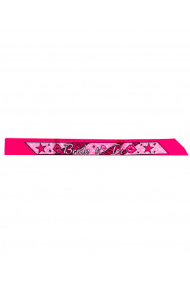 SASH SATIN BRIDE TO BE PARTY HOT PINK