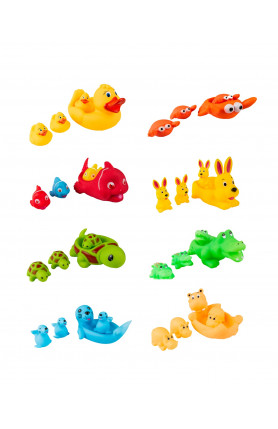 ASSORTED BATH TOY FAMILY SETS