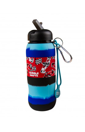 BUBBLE NAUTS RACE CAR SILICONE DRINKING WATER BOTTLE