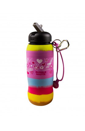 BUBBLE NAUTS PRINCESS SILICONE DRINKING WATER BOTTLE
