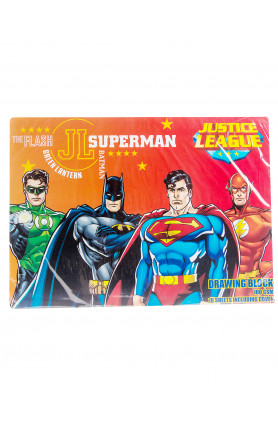 JUSTICE LEAGUE DRAWING BLOCK (100MG) (16S)