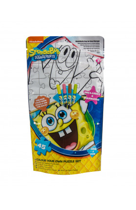 NICKELODEON SPONGEBOB SQUAREPANTS COLOUR YOUR OWN PUZZL..