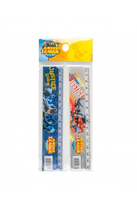 WB JUSTICE LEAGUE GROUP RULERS -PS-PKT (2S)(15CM)