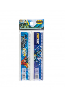 WB BATMAN FANCY RULERS -PS-PKT (2S) (15CM)