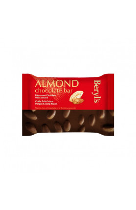ALMOND CHOCOLATE BAR - BITTERSWEET CHOCOLATE WITH ALMON..