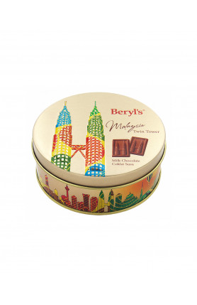 TWIN TOWER MILK CHOCOLATE (ROUND CAN) 80G