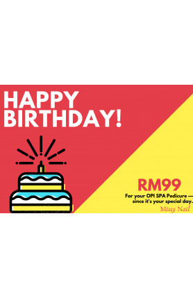 OPI SPA PEDICURE | BIRTHDAY VOUCHER