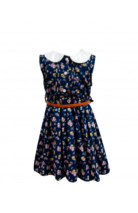 BABY CASUAL DRESS (BLUE)