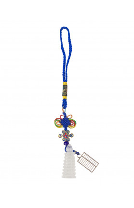 BLUE PAGODA AND ABACUS TASSEL