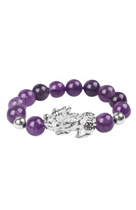 SILVER PI YAO WITH PURPLE BRACELET