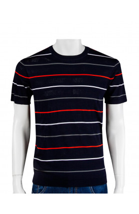 HORIZONTAL STRIPES KNITTED T-SHIRT