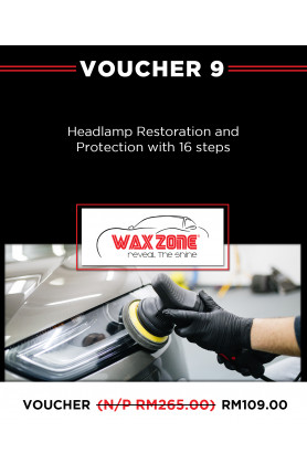 HEADLAMP RESTORATION AND PROTECTION WITH 16-STEPS
