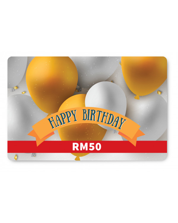 Happy Birthday E Gift Card RM50